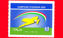 Nuovo - MNH - ITALIA - 2021 - Italia - Campioni D'Europa Di Calcio 2020 – B Zona 1 - 2011-...: Mint/hinged