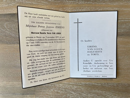 Petrus Joannes ESKENS °HEVER 1879 +MECHELEN 1959 - VAN LOOCK - HAEZAERTS - TORFS - Todesanzeige