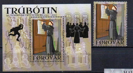 Faroe Islands 2017. Reformation 500th Anniversary, 95 Theses In Wittenberg.  MNH** - Faeroër