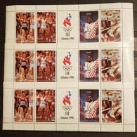 BATUM OLYMPIAD 1996 ATLANTA 3 M/SHEETS PERFORED MNH - Verano 1996: Atlanta