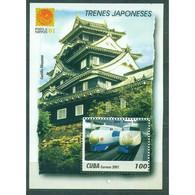 🚩 Discount - Cuba 2001 International Stamp Exhibition Philanippon '01 - Tokyo, Japan - Japanese Locomotives  (MN - Non Classés
