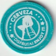 Spain Espagne España, Token Ficha - CERVEZA DISFRUTA! ENJOY IT!! - 1 - Dollhouse, Pussycat - 2,90 Cm Diametro - Unclassified