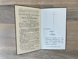 Maria Mathilda GEETS °HEVER - SCHIPLAKEN 1889 +MUIZEN 1952 - VERRIJT - Todesanzeige