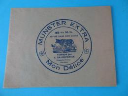 Emballage De Munster Mon Délice Grandperrin Fleurey Les St Loup Haute Saône 70 - Cheese