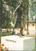 "Finland Postcard Ville Ritola ""A Shadow Of Nurmi"", The Runner, Paavo Nurmi, Who Won Nine Olympic Gold Medals - Athletics"