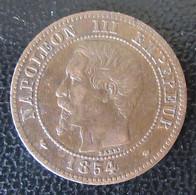 France - Monnaie 2 Centimes Napoléon III 1854 MA (Marseille) - TTB / SUP - B. 2 Centesimi