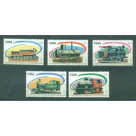 🚩 Discount - Cuba 2001 Steam Locomotives  (MNH)  - Railways, Locomotives - Trains
