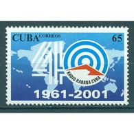 🚩 Discount - Cuba 2001 The 40th Anniversary Of The Radio Havana Cuba  (MNH)  - Radio - Télécom