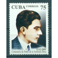 🚩 Discount - Cuba 2001 The 100th Anniversary Of The Birth Of Pablo De La Torriente, 1901-1936  (MNH)  - Celebrit - Non Classés