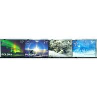 🚩 Discount - Poland 2014 Meteorological Phenomena  (MNH)  - Nature, Northern Lights, Volcanoes - Nature