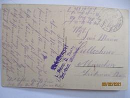 Rußland, Zerstörte Protzenabteilung, Landsturm Mosbach Feldpost 1917 (10516) - Guerra 1914-18