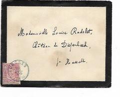 LE 1503. N° 69 Obl. TONGRES 23 JUIL 1894 S/petite Enveloppe De DEUIL V. Château De DIEPENBEEK.. Au Dos HASSELT 23 JUIL. - 1894-1896 Exhibitions