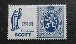 1929 : Cob PU36*  50C  Scott (enfants)  (trace Charnière D9 ) Voir Verso - Werbung