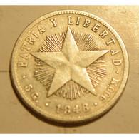 🚩 Cuba 1948 KM#13.2 VEINTE CENTAVOS 20 Centavos Regular XF - Cuba