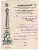 OISE - LIANCOURT - A. BAJAC - Forges, Etc...( 2 Factures, 1 Traite ) - 1900 – 1949