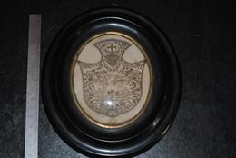 Très Ancien Cadre Religieux Napoléon III XIXè Décor Ajouré Avec Inscription Croix Coeur Couronné RARE Relique Reliquaire - Religione & Esoterismo