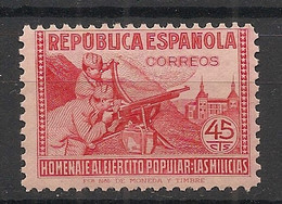 Espana - 1938 - N°Yv. 647 - Milices Populaires - 45c Rose - Neuf Luxe ** / MNH / Postfrisch - 1931-50 Nuovi