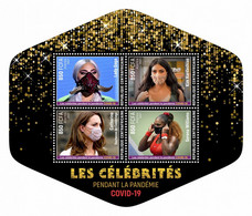 CENTRALAFRICA 2021 MNH Pandemic Celebrities Kate Middleton M/S - OFFICIAL ISSUE - DHQ2133 - Familles Royales