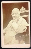 CDV PHOTO  HOMME PONTIFICATUS ANNO XXVI ROMA PIUS IX PAPE POPE GIOVANNI  MARIA MASTAI FERRETTI  AVEC OBLIT. AU VERSO !! - Old (before 1900)
