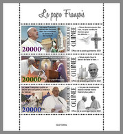 GUINEA REP. 2021 MNH Pope Francis Papst Franziskus Pape Francois M/S - OFFICIAL ISSUE - DHQ2133 - Papes