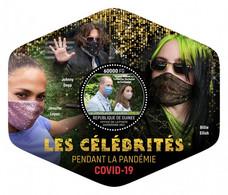 GUINEA REP. 2021 MNH Pandemic Celebrities Billie Eilish Jennifer Lopez S/S - OFFICIAL ISSUE - DHQ2133 - Musique