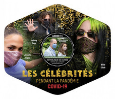 GUINEA REP. 2021 MNH Pandemic Celebrities Billie Eilish Jennifer Lopez S/S - IMPERFORATED - DHQ2133 - Musique