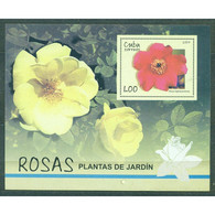 🚩 Discount - Cuba 2007 Roses  (NG)  - Flowers, Roses - Blocs-feuillets