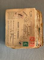 """D202- FRANCE Lot De Devant De Lettres """"Valeurs à Recouvrer"""" Environ 200 Pièces, En Majorité Semeuses CV?? 3 Photos - 1877-1920: Semi-moderne Periode"""