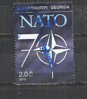 GEORGIA 2020 - 70th ANNIVERSARY OF NATO - POSTALLY USED OBLITERE GESTEMPELT USADO - Georgien