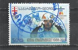 GEORGIA 2010 - NODAR KUMARITASHVILI, GEORGIAN ATHLETE - POSTALLY USED OBLITERE GESTEMPELT USADO - Georgien