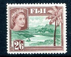 Fiji 1954-59 QEII Definitives - Wmk. Script CA - 2/6 River Scene - Brown MNH (SG 292) - Fiji (...-1970)