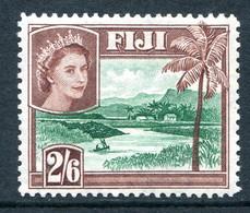 Fiji 1954-59 QEII Definitives - Wmk. Script CA - 2/6 River Scene - Red-brown HM (SG 292a) - Fiji (...-1970)