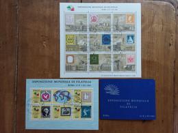 REPUBBLICA - Italia '85 - 3 BF Expo Mondiale - Timbrati + Spese Postali - Blocs-feuillets