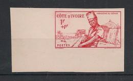 Cote D'Ivoire - 1941 - N°Yv.162a - Empire 1f+1f Rouge - Non Dentelé / Imperf. - Neuf Luxe ** / MNH / Postfrisch - Ongebruikt