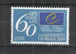 GEORGIA 2009 - 60th ANNIVERSARY OF COUNCIL OF EUROPE - POSTALLY USED OBLITERE GESTEMPELT USADO - Georgien