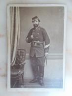 PHOTO CDV Militaire - Annotation Au Dos - War, Military
