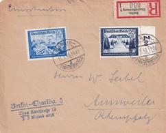 ALLEMAGNE 1940 LETTRE RECOMMANDEE DE BERLIN AVEC CACHET ARRIVEE ANNWEILER - Briefe U. Dokumente