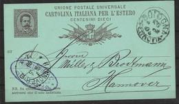 Italie Entier Postale N° 13C Obli - - Stamped Stationery