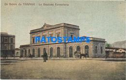 167190 ITALY TRAPANI SICILIA STATION TRAIN POSTAL POSTCARD - Unclassified