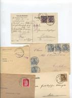 8518) 10 Belege Gesamtdeutschland - Affrancature Meccaniche Rosse (EMA)