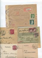 8455) 10 Belege Gesamtdeutschland - Affrancature Meccaniche Rosse (EMA)