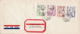 LIBERIA LETTRE FDC J O ROME POUR LES USA 1960 - Liberia