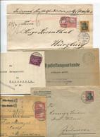8450) 10 Belege Gesamtdeutschland - Affrancature Meccaniche Rosse (EMA)