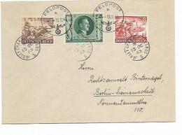 LE 1504.  N° Mi 832-835-845 Obl. JERSEY CHANNEL ISLANDS 13 OC 43 + FELDPOST 13.10 S/Lettre V. Berlin. TB - Cartas