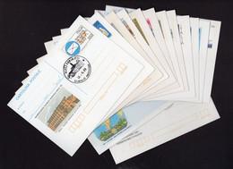 ITALIA - FDC Cartolina Intero Postale - N° 12 Cartoline E N° 2 Biglietti Postali  - 45011 ADRIA (Rovigo) - F.D.C.
