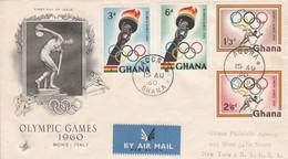 GHANA 1960 JEUX OLYMPIQUES DE ROME - Ghana (1957-...)