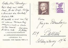 BERLIN  -  1974  -  20 Pf.  UV  -  1. Postkutschenfahrt  -  PP 63 / 5 - Privatpostkarten - Gebraucht