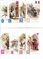 CPM REPRODUCTION 23 Cartes De La Série De La Poste Dans Le Monde ,drapeau  Et Timbre ATTENTION REEDITION MODERNE - Poste & Facteurs