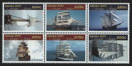 Aruba 2011 - Mi-Nr. 615-620 ** - MNH - Schiffe / Ships - Curacao, Netherlands Antilles, Aruba