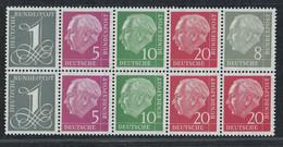 Bund Heuss H Blatt 8x Postfrisch - Markenheftchen